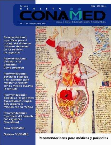 Revista CONAMED, Vol. 12, Núm. 3, julio - septiembre, 2007