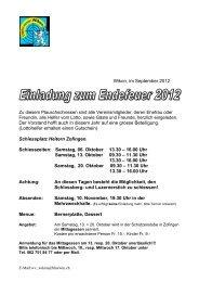 Wikon, im September 2012 Der Vorstand hofft auch in diesem Jahr ...