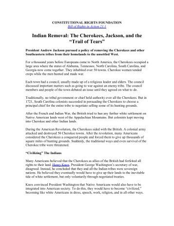 dbq indian removal essay Wallace describes the forced removal of thousands of native americans from the american east to an area west of the mississippi river through the indian removal act of 1830.