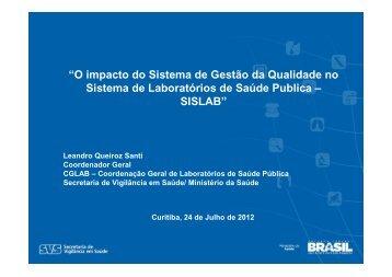 O Impacto do Sistema de Gestão da Qualidade no Sistema Nacional ...