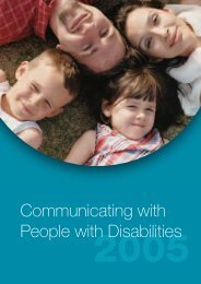 Communicating with people with disabilities - Novita Children's ...
