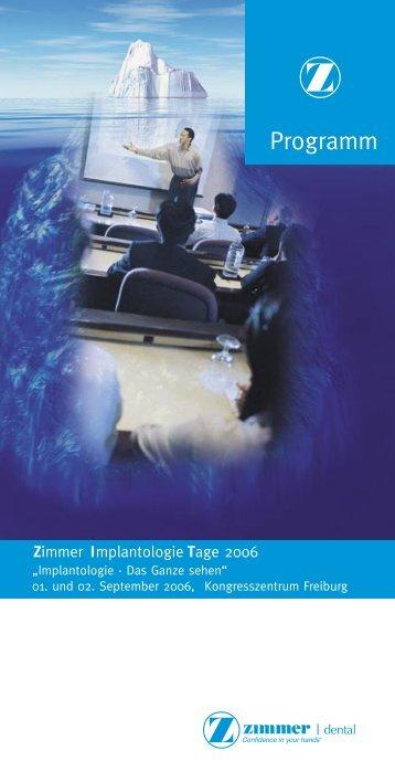 Programm - Zimmer Dental GmbH