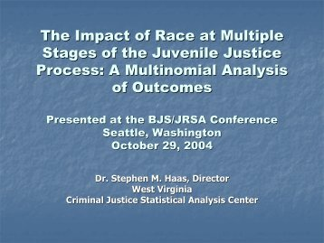 The Impact of Race at Multiple Stages of the Juvenile Justice Process