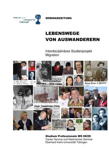 LEBENSWEGE VON AUSWANDERERN - Universität Tübingen