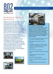 Command Vehicle Solutions - UK Broadband Distribution