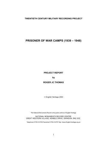 Prisoner of War Camps Report for web - English Heritage