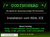 Installation vom REAL ICE - codinghead