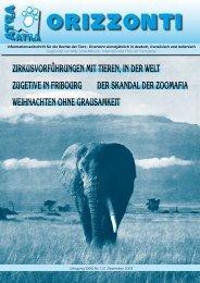 Zirkusvorführungen mit tieren, in der Welt Zugetive in ... - ATRA