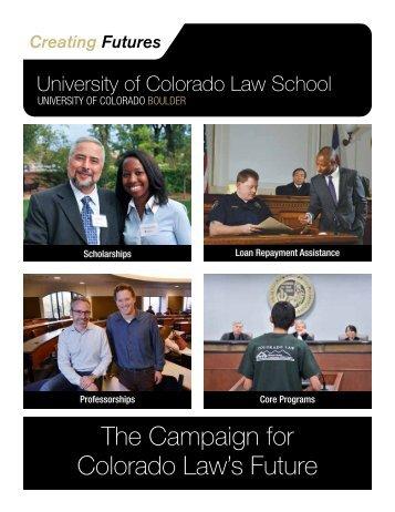 The Campaign for Colorado Law's Future - University of Colorado ...