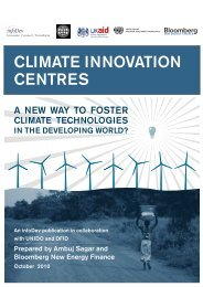 Climate Innovation Centres: A New Way to Foster - Unido
