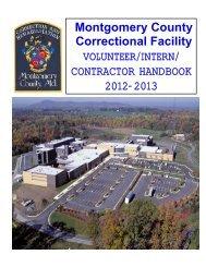MCCF Volunteer Handbook - Montgomery County, Maryland
