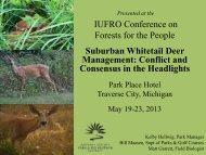 Suburban Whitetail Deer Management