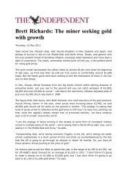 Brett Richards: The miner seeking gold with growth - Avocet Mining ...