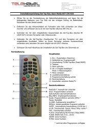 Installationsanleitung Set Top Box, Kaon Media KCF-270 SCO ...