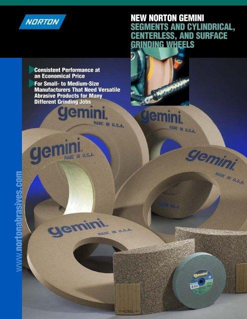 "Gemini 10/""X1-1//2/""X1-1//4/"" Bench Grinder Pedestal Grinding Wheel Medium 60//80"