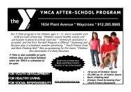 YMCA AFTER-SCHOOL PROGRAM - The Childers YMCA