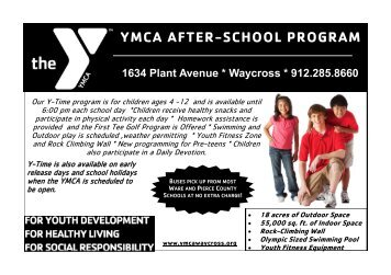 YMCA AFTER-SCHOOL PROGRAM - The Childers YMCA
