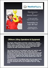 Offshore Lifting Operations & Equipment