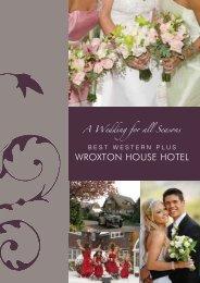 wedding brochure - Best Western Wroxton House Hotel