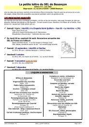 Edition n°2 - juin 2007 - SEL de Besançon - Free