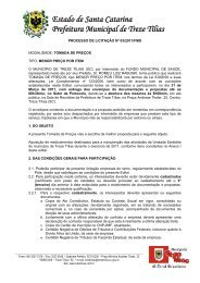 Estado de Santa Catarina Prefeitura Municipal de Treze ... - AMMOC
