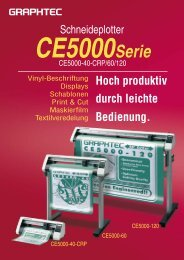 Prospekt Graphtec CE5000 - Walter Schulze GmbH