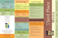 Cold Beverages Cold Beverages CCoffee CExtras Kids Menu