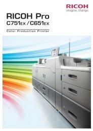 RICOH Pro C751EX/C651EX製品カタログ PDFダウンロード - リコー