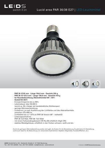 Lucid area PAR 30/38 E27 | LED-Leuchtmittel - LEIDS
