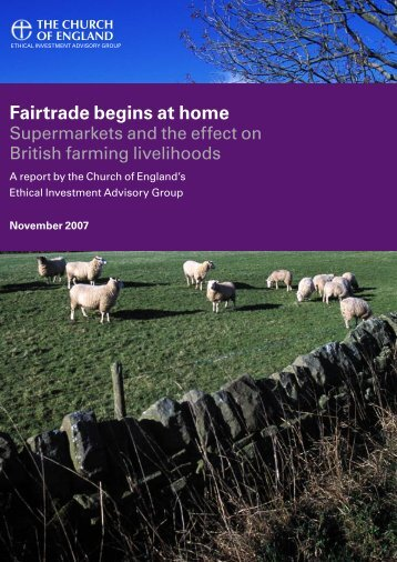Fairtrade begins at home report - Church of England