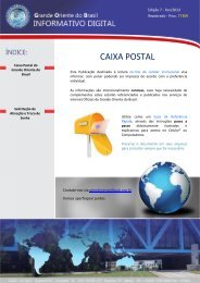 CAIXA POSTAL - Grande Oriente do Brasil