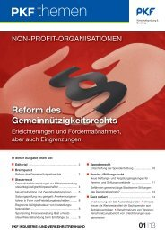 PKF Themen NPO, Mai 2013