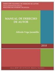 MANUAL DE DERECHO DE AUTOR Alfredo Vega Jaramillo