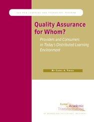 Quality Assurance for Whom? - Centre for Academic Development