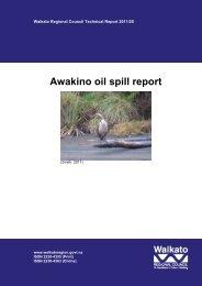Awakino oil spill report - Waikato Regional Council