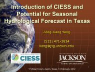 Introduction of CIESS and Potential for Seasonal Hydrological ...