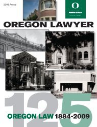 2008 Oregon Lawyer ANNUAL - Oregon Law - University of Oregon
