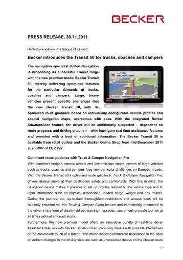 Download Pressemeldung - United Navigation