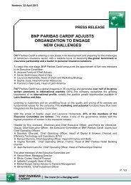 press release - BNP Paribas
