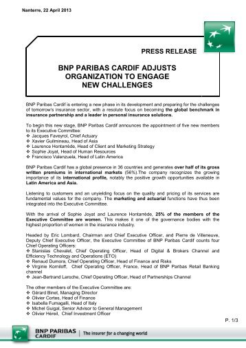 press release - BNP Paribas