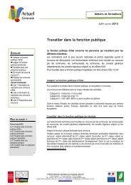 2.0 Travailler dans la fonction publique - (CRIJ) Limousin