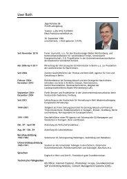 Mein CV als pdf - Uwe Roth
