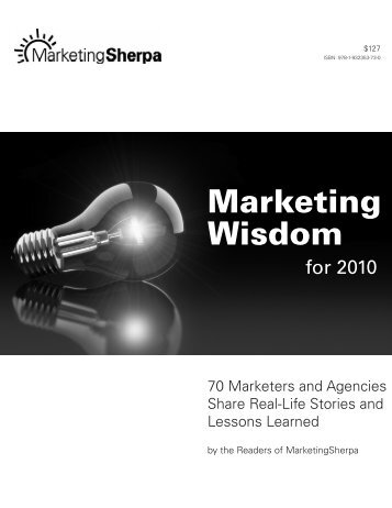 MarketingSherpa's Marketing Wisdom for 2010 - Cracking the Code ...