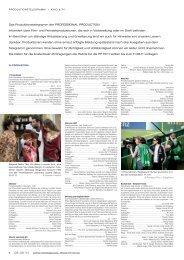 PRODUKTIONSTELEGRAMM | KINO & TV - Professional Production