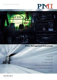 Power Management Instruments - PMI – Power Management ...