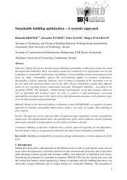 Sustainable building optimization – A systemic approach