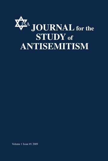 Antisemitism as a Specific Phenomenon - Journal for the Study of ...