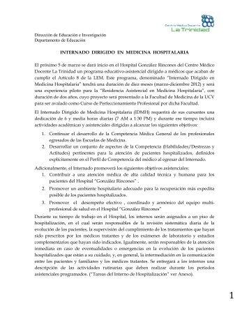 información - Centro Médico Docente La Trinidad