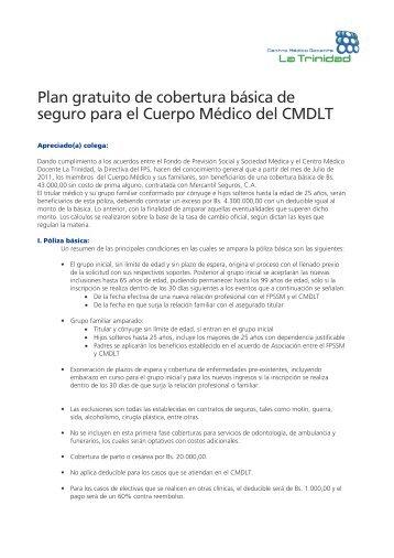 Descargar información (PDF) - Centro Médico Docente La Trinidad