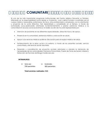 Actividad 2011 - Centro Médico Docente La Trinidad